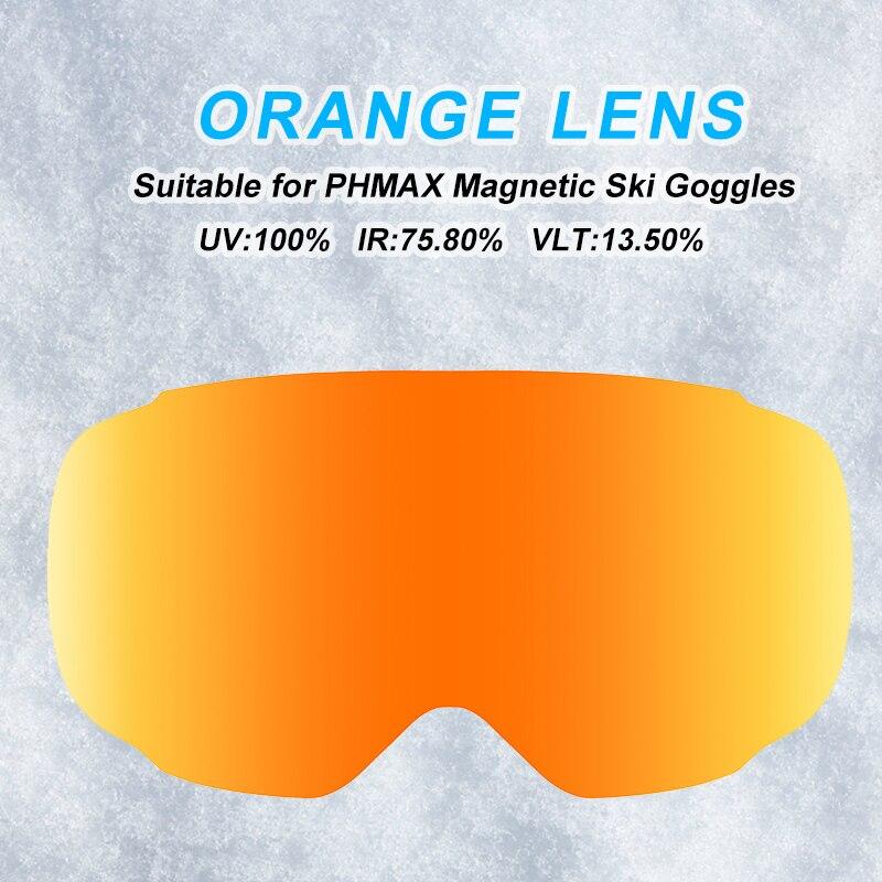 PHMAX магнитные лыжные очки быстро заменяемые линзы Анти-Туман UV400 ночного видения желтые линзы несколько цветов очки линзы