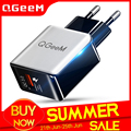QGEEM QC 3.0 USB Charger Fiber Drawing Quick Charge 3.0 Fast Charger Portable Phone Charging Adapter for iPhone Xiaomi Mi9 EU US
