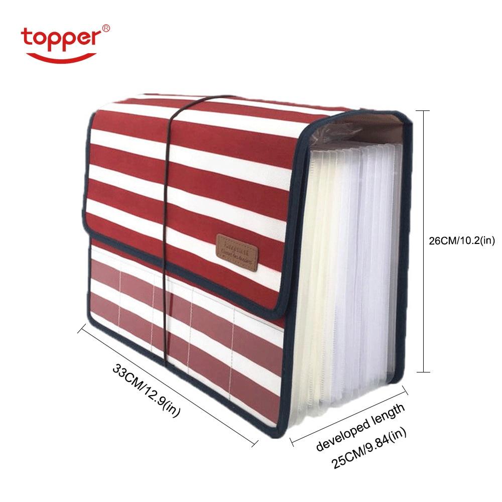 File Bag Cute Portable Expanding Bag Accordion 12 Pockets A4 File Folder Oxford Expanding Document Briefcase