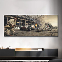 Racing Car On Fire Poster Print On Canvas Painting Nordic Wall Art Picture For Living Room Home Decor Decoration Frameless