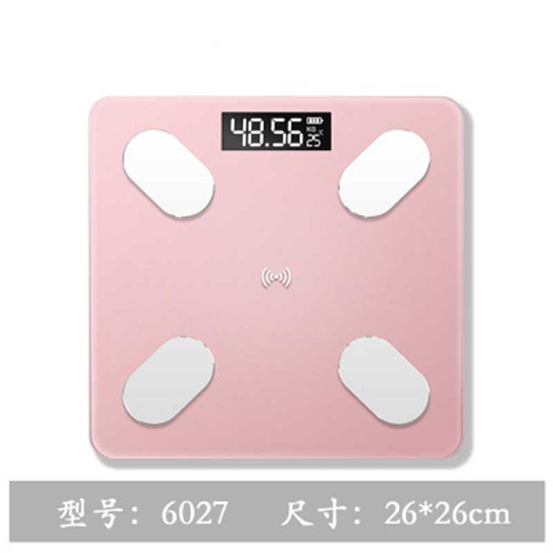 Corpo pesando balança de peso digital escalas chão do banheiro corpo escala de gordura de vidro eletrônico inteligente escalas carregamento usb display lcd