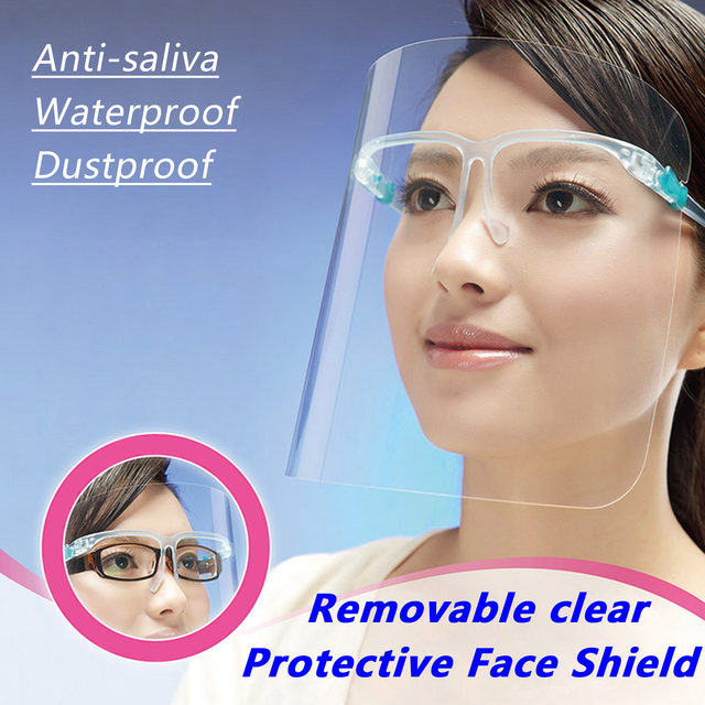 MDY-9 Safety Face Shield Transparent Anti-Saliva Water Oil Fog Full Face Protective Mask Cover Visor for Home Kitchen Walking