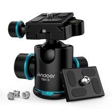 Andoer TB81X штатив с шаровой головкой, вращающаяся на 360 градусов панорамная шаровая Головка для DSLR камеры штатив монопод Максимальная нагрузка 8 кг/17,64 фунта