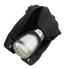 5 velocidade 6 velocidade botão de mudança de engrenagem do carro para ford focus manual shifter knob handebol com bota couro estilo do carro