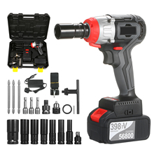 Wrench-Kit Torque Brushless-Drill Cordless Impact Battery-Speed Quick-Chuck Fast-Charger