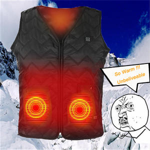 Winter Far Infrared Heating Vest Electric Heated Warm Waistcoat Fishing L8K1