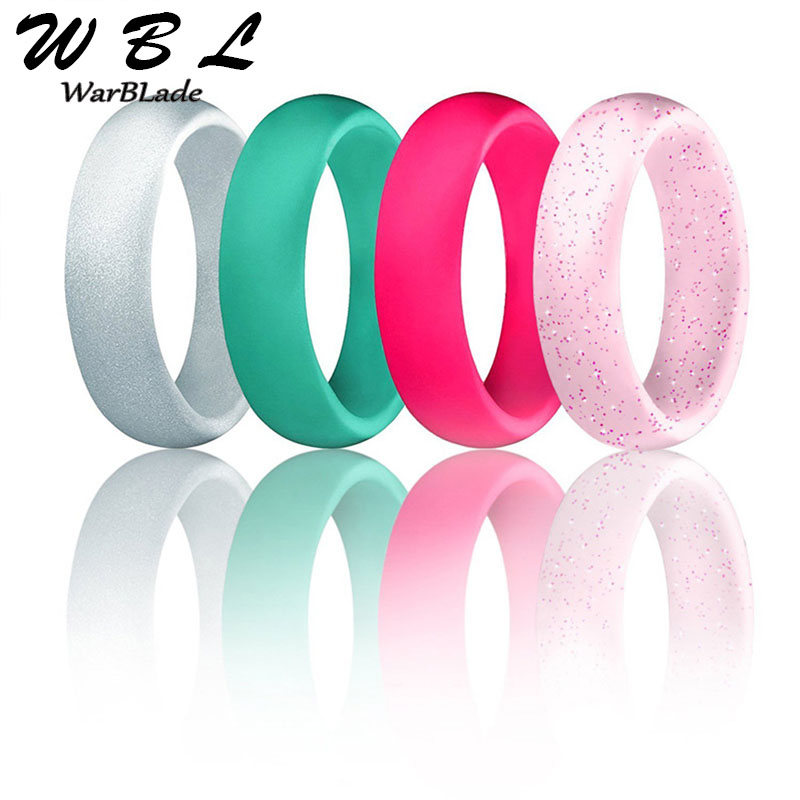 7pcs/set Food Grade FDA Silicone Finger Ring 5.7mm Hypoallergenic Crossfit Flexible Sports Rubber Rings 4-10 Size For Men Women