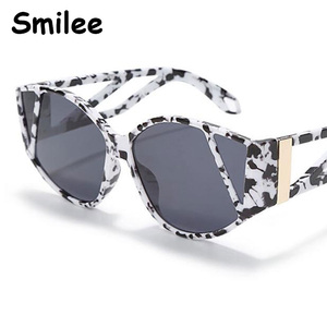2020 New Cat Eye Sunglasses Women Luxury Designer Oversized Frame Unique fashion Glasses Male Female Gradient Eyewear UV400