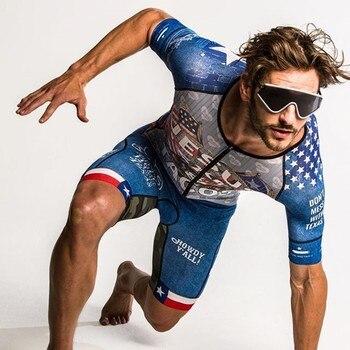 Traje de triatlón Love The Pain para hombre culote de ciclista, Jersey,...