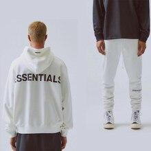 2020 2PCS Sets Warm Reflective Sweatshirt+pants Essentials Hip Hop Sportwear Suit Male Brand Men Loose ovesized Hoodies Sets
