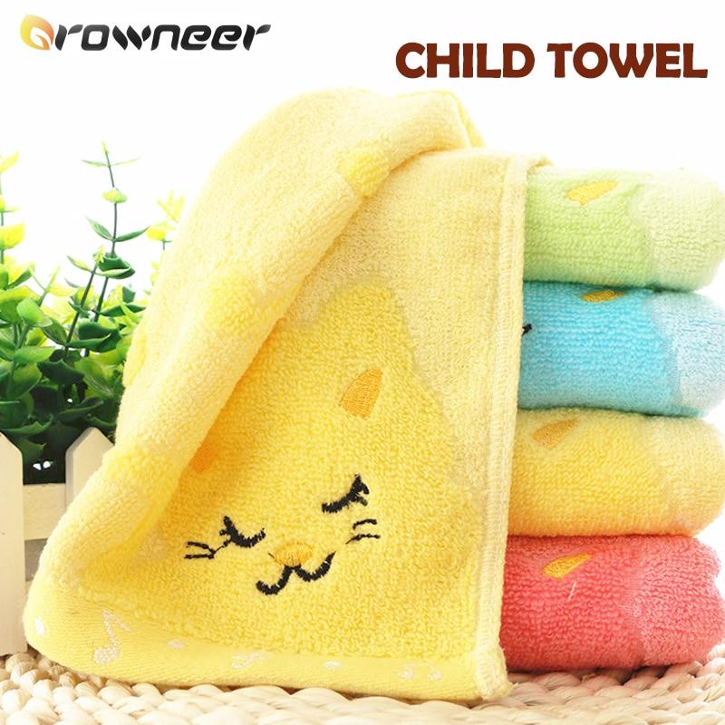 Cat Child Towel Bamboo Fiber Cotton Towel Strong Water Absorbing Microfiber Cute Shower Towel Green Blue Yellow Pink Bathing