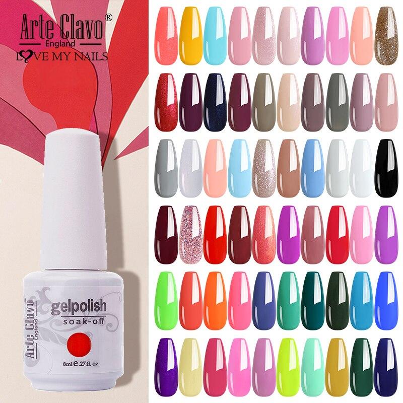 Arte Clavo Гель-лак Полупостоянный Гель-лак для ногтей классический цветной Гель-лак для ногтей грунтовка для ногтей Гибридный Гель-лак