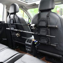 2pcs Fishing Rod Holder Carrier For Vehicle Backseat Holders 3 Poles Suitable For Car Most Models Fishing Tackle Tool Accessory