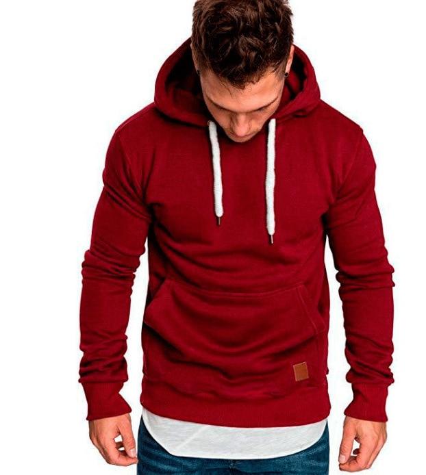 2020 New Sweater Male Solid Color Sweater Even Hat Men's Wear Long Sleeve Jacket