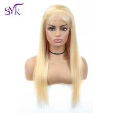 SYK 613 Human Hair Wigs Brazilian Straight Lace Front 13*4 150% Density Non Remy