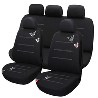 9Pcs New Butterfly Embroidery Car Seat Cover Universal Fit Most Vehicles Seats Interior Accessories