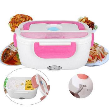 Elettrico Riscaldato Lunch Box Lunch Box Portatile 2 in 1 Auto E Casa Spina Degli Stati Uniti/Spina di Ue Bento Scatole in Acciaio Inox contenitore di Alimento