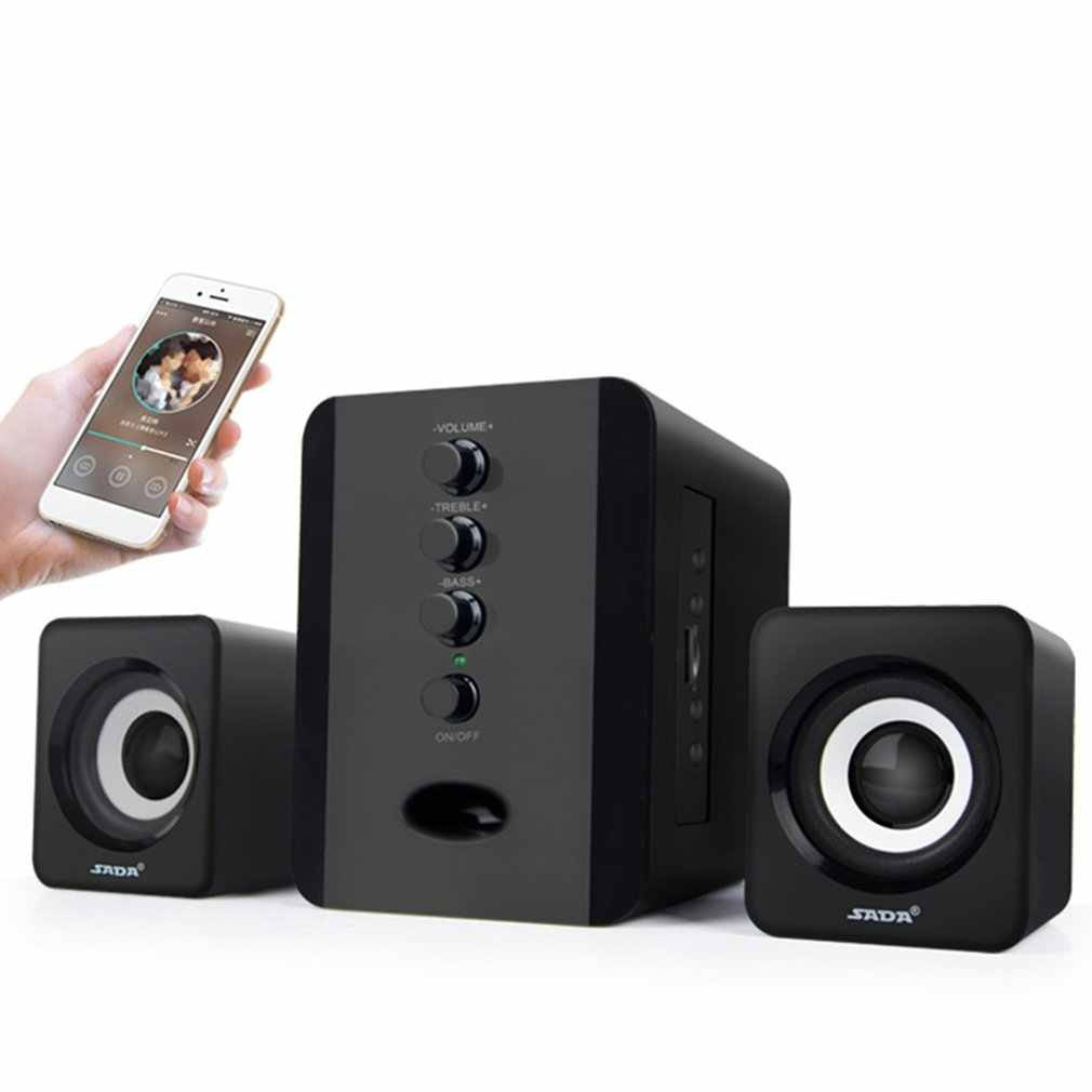Tahan Lama Laptop Subwoofer 3.5 Mm Jack Musik Loudspeaker Usb Kabel Komputer Speaker Portable Kombinasi Speaker