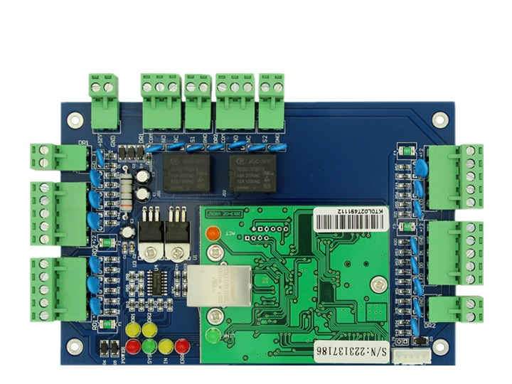 TCP/IP Wiegand Door Entry Access Control Board Module Controller For 1/2/4 Door Entry Systems