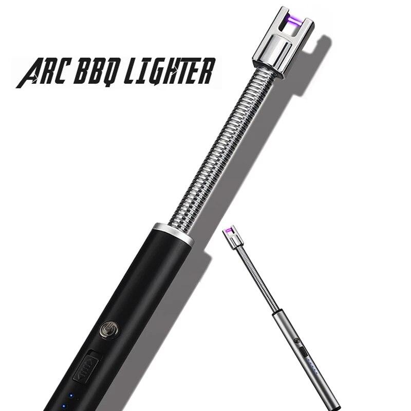Новый барбекю светодиодный USB электрическая перезаряжаемая длинная кухонная зажигалка для газовой плиты ветрозащитная плазменная дуга бе...