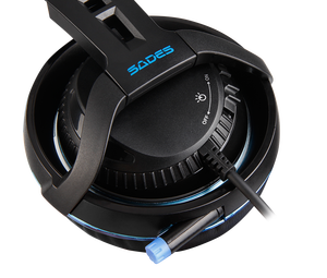 Image 5 - SADES Diablo Realtek Effect Gamer Headphones RGB Gaming Headset Headphone with Retractable Microphone