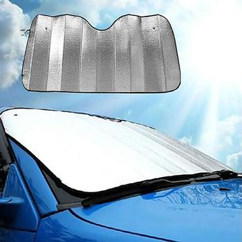 Car Sunshade Front Windshield Anti-UV Shield Sun Shade Visor Aluminum Foil Cover image