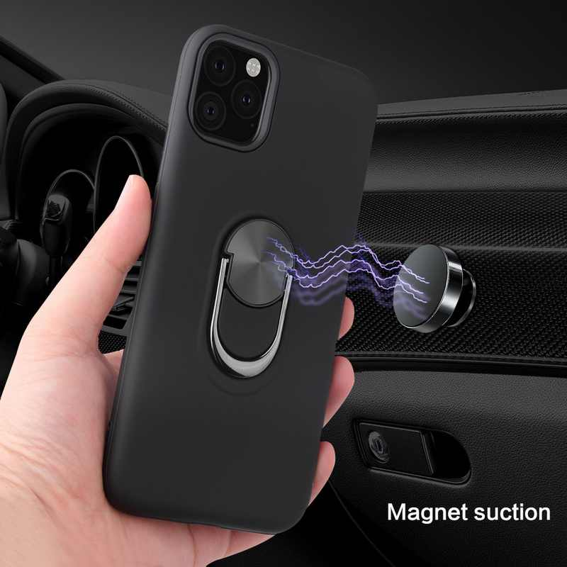 Caso de telefone para o iphone 11 pro xr x 5 se tpu escondido kickstand com ímã do carro capa para iphone 6 7 8 plus xs max capa fundas