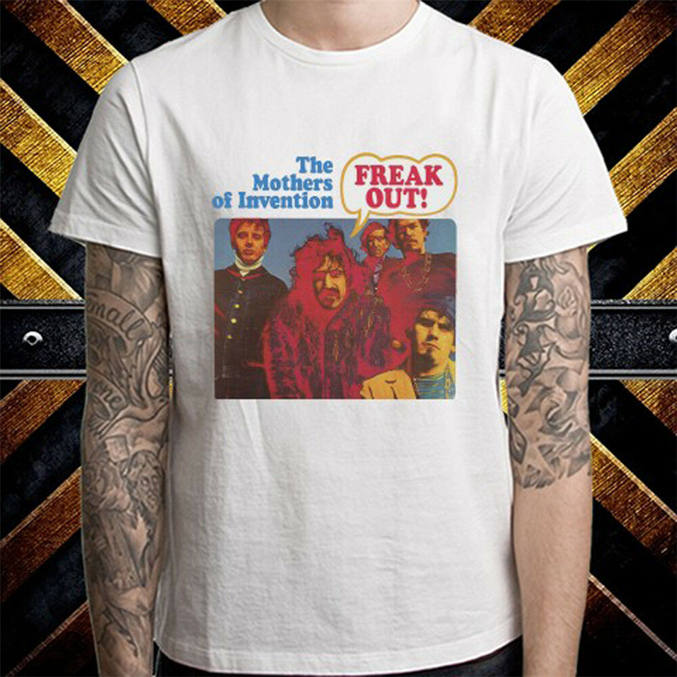 Frank Zappa American Musician Album Men'S White T-Shirt Size S To 3Xl Slogans Customized Tee Shirt image