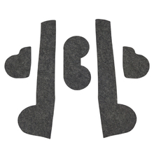 18 Pcs Gate Slot Mat Pad Felted Wool For Mazda 3 5 6 CX-3 CX-5 CX-7 Door Groove Car Accessories Anti-Slip Styling