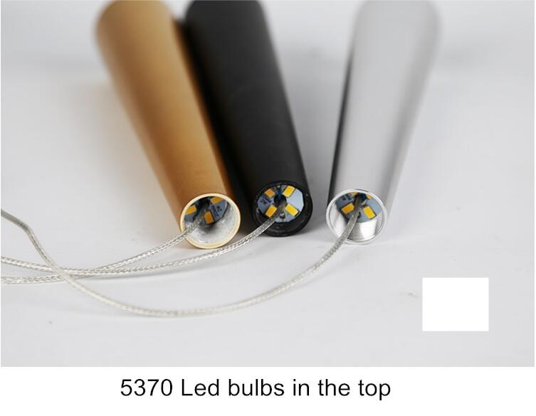 Moderno led staircae lustre de alumínio cônico