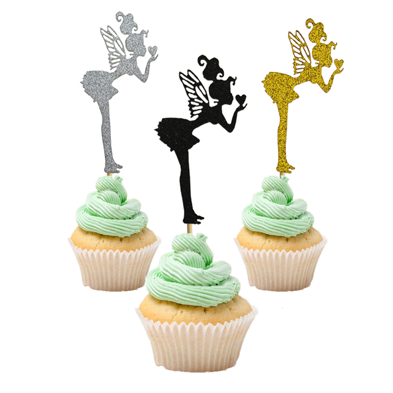 5PCS High Heel Beautiful Girl Cake Pick Topper Decoration Black//Golden NEW