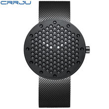 CRRJU Men's Watches New Honeycomb Personality Creative Wristwatch Army Military Men's Quartz Sport Watch Gift Zegarek Meski(China)