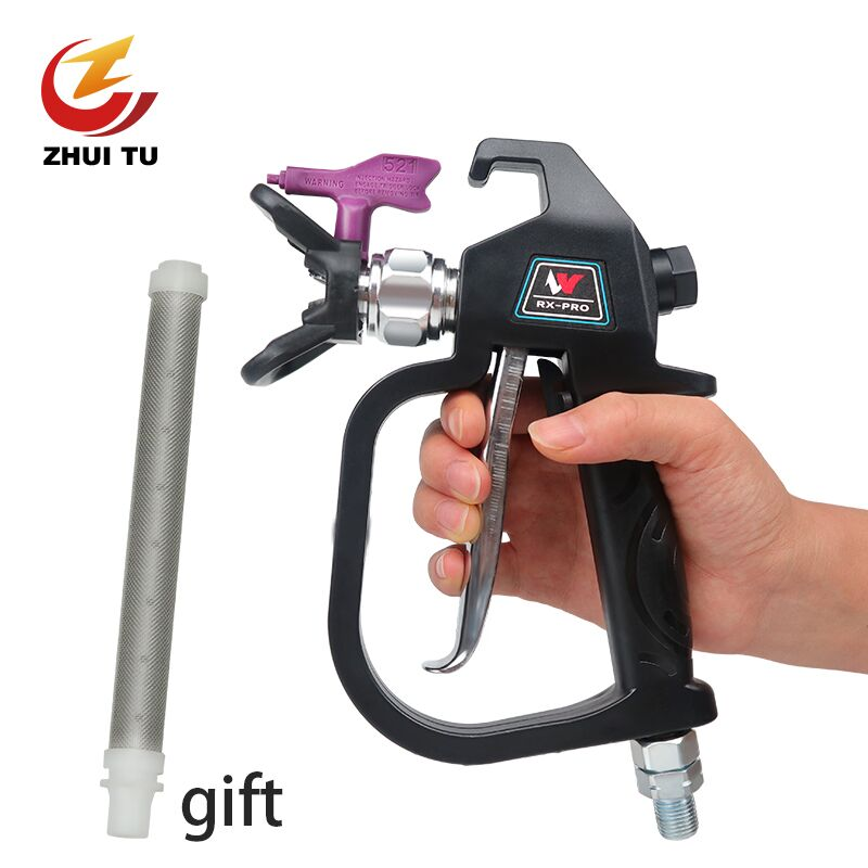 Professional 3600PSI High Pressure Airless Paint Spray Gun With 517 Spray Tip Nozzle Guard For Wagner Titan Spraying Machine