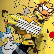 COOLVFATBO Fashion Anime Pokemon Kawaii Pikachu Charmander Poke Ball Canvas Shoe Teens Sports Shoes