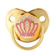 Luxo dourado bing chupetas para bebê menino meninas ortodôntico mamilo coroa dos desenhos animados manequim exclusivo chuveiro presente
