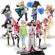 Figuras de acción de Naruto Shippuden, Hyuga, Hinata, Haruno, Sakura, sunade, Anime, PVC, colección de figuras de acción, modelo de belleza, Juguetes