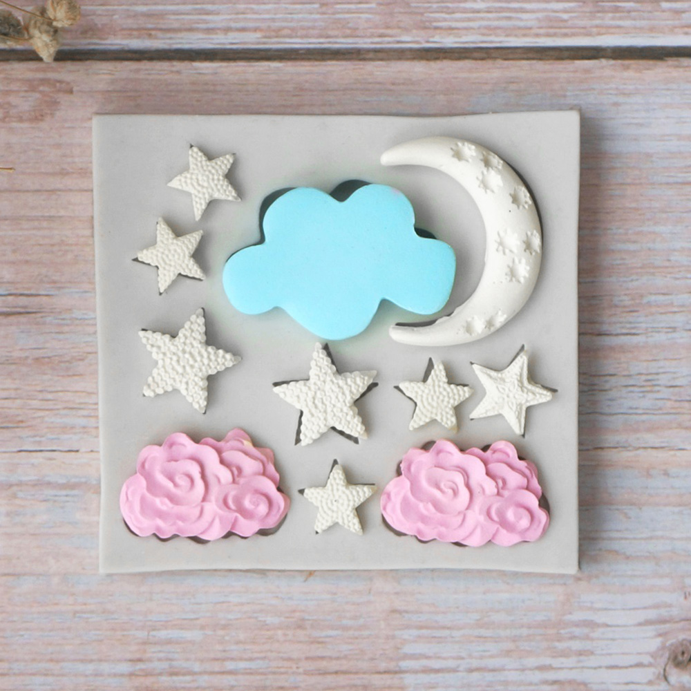 Star Moon Cloud Shape Baking Silicone Mold Cake Decorating Tools Chocolate Candy Cake DIY Mould Fondant Pastry DIY Baking Tool