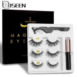 2/3 pairs 10-15mm Natural False Eyelashes Magnetic Fake Lashes Kit Magnetic Eyeliner Tweezer Set Mink Lashes extension maquiagem
