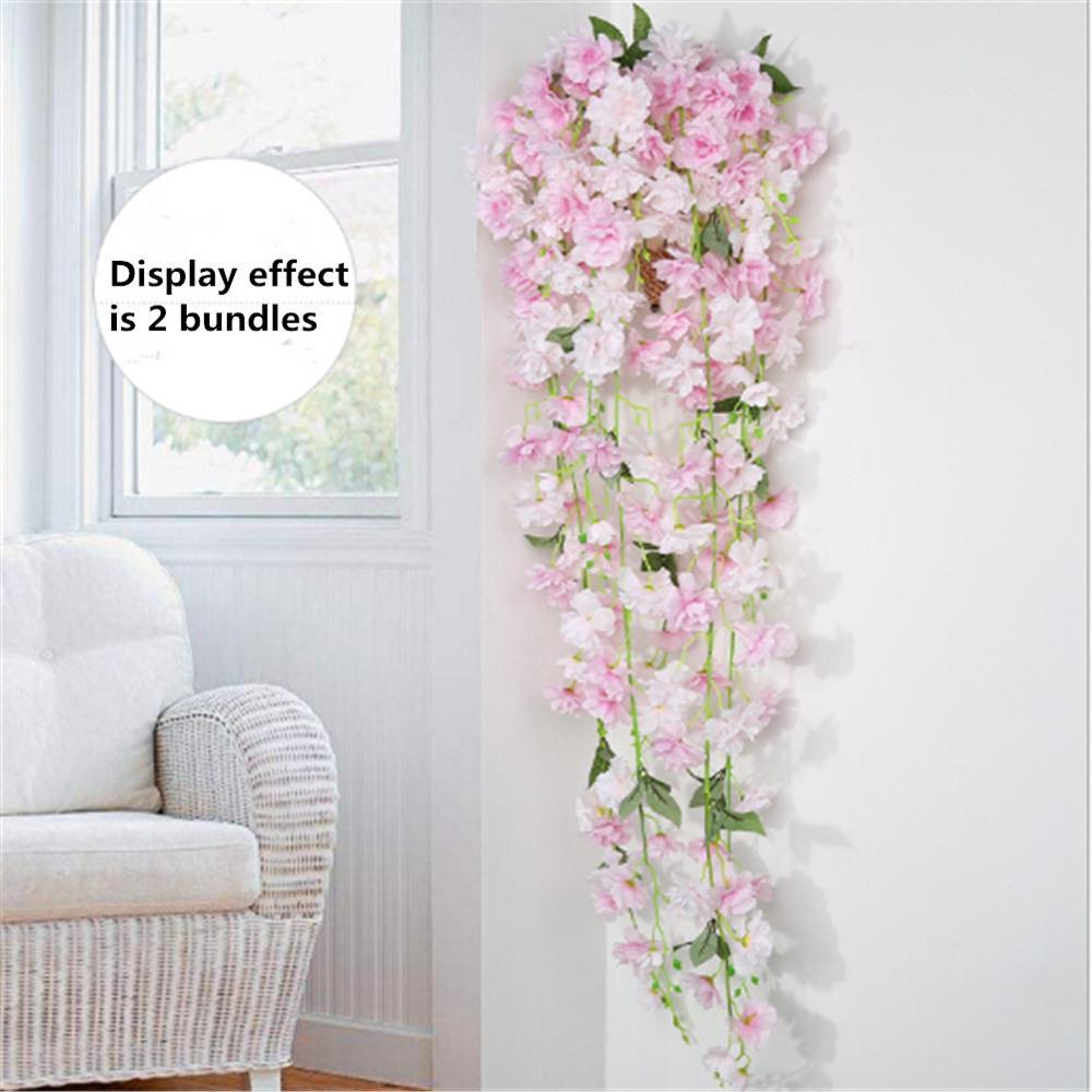 Artificial Fake Flower Vine Hanging Garland Plant Home Garden Wedding Decor K