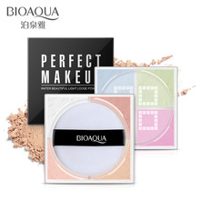 BIOAQUA Smooth Loose Powder Make Up 4 Colors Matte & Shimmer Face Makeup Waterproof Loose Powder Skin Finish Powder with puff 10ml empty loose powder jars with mirror powder puff black diy make up powder compact cosmetic packing container free shipping