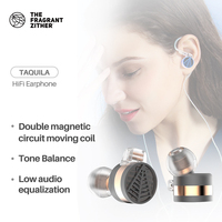 (China) TFZ TEQUILA1 High quality HIFI headphones,semi enclosed metal in ear headphones with moving coil unitWith earphone cord