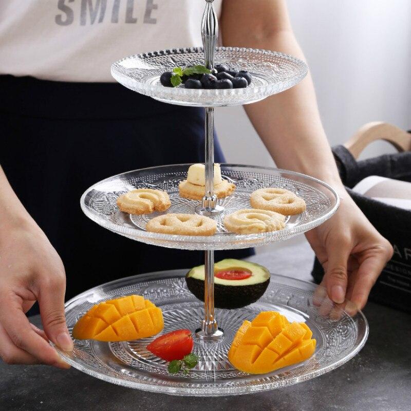 Высококачественный Европейский поддон для хранения продуктов, фруктовый поддон для хранения продуктов, 3 слойная пластиковая тарелка, подносы для хранения свадебных тортов|Лотки для хранения|   | АлиЭкспресс