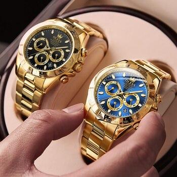 Olevs Men's Automatic Mechanical Watch Waterproof Stainless Steel Strap Men's Mechanical Watch Fashion 2