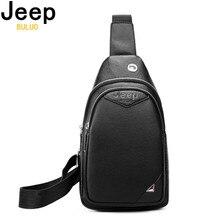 JEEP BULUO Brand Men Bag Split Leather Crossbody Ba