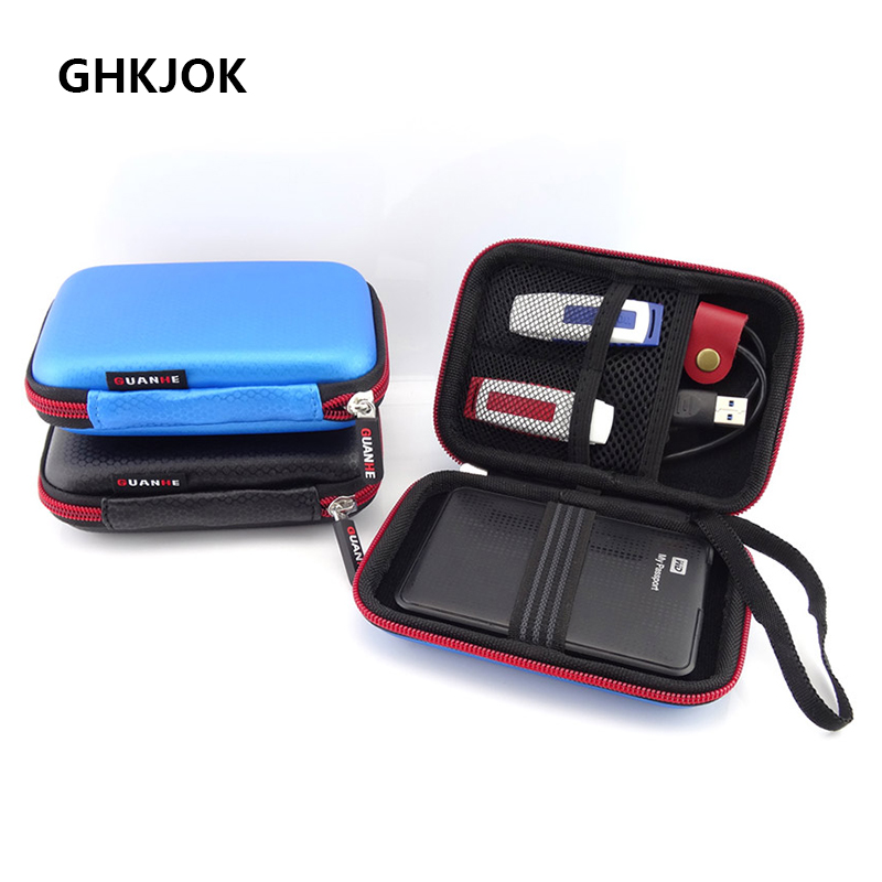 Original 2.5 Inch HDD Hard Disk Bag Mobile Power Bank U Disk Case External Hard Drive HDD Bag For WD My Passport Seagate HDD Bag