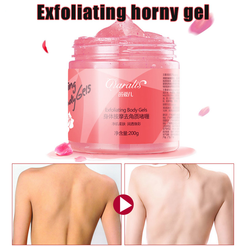 Exfoliating Body Gel 200g Dead Skin Remover Cream Moisturizing Nourishing Skin HJL2019