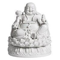 White Porcelain Maitreya Buddha Statue Ceramic Crafts Feng Shui Big Belly Laughing Buddha Art Sculpture Home Decoration R2894