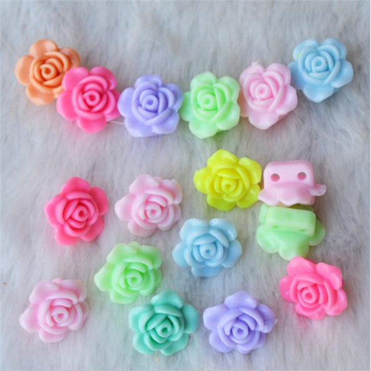 DIY Children Acrylic Loose Beads Lucky Color Flat Wafer Modeling Beads Hand-made Material