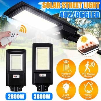 2800W 3800W LED Solar Street Light with Remote Control 8500K Radar Sensor Outdoor Garden Wall Lamp Industrial Security Lighting 1