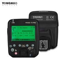 YONGNUO YN560 TX פרו 2.4G פלאש טריגר Speedlite משדר אלחוטי עבור ניקון DSLR מצלמה YN968N Speedlite RF605 מקלט